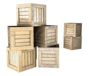 Embalaje caja de madera