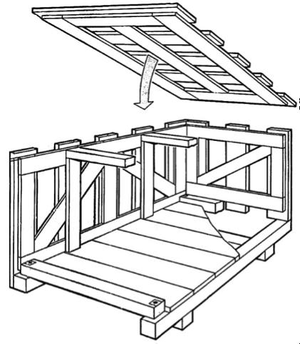 Embalaje de madera jaula