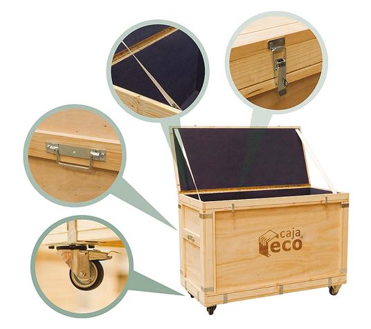 Caja Eco embalaje de madera